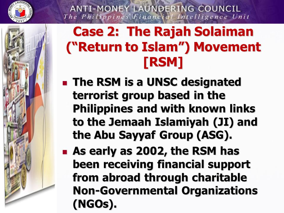 Case 2: The Rajah Solaiman ( Return to Islam ) Movement [RSM]